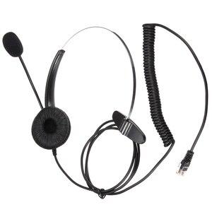 Image 5 - Leory rj11コールセンターヘッドフォン電話ノイズキャンセヘッドフォン付きマイクコネクタヘッドセット最高の価格