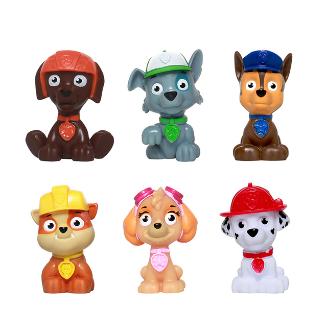 6 Pcs/Set Paw Patrol Action Toy Figures Dog Patrol Cartoon Decoration Doll Suit Children Educational Toy Model Birthday Gift