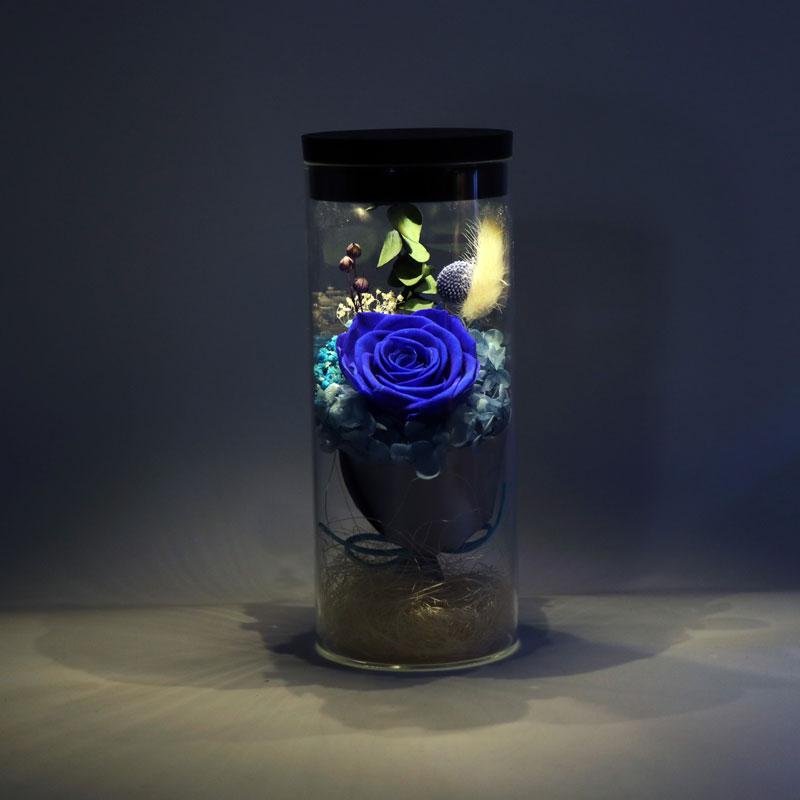 Flor artificial de cristal de rosa para decoración del hogar de la boda de flores frescas de la cubierta del Día de San Valentín