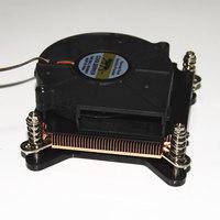 For Intel 1150 1155 1366 1U CPU Computer case server double Ball bearing turbo fan Super thin copper radiator 4pin