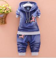 Baby Boys Clothing Set Children Hoodies Pants Thicken Winter Warm Clothes Boys Sets 2016 Autumn New