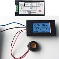 1 cái Sản Phẩm Mới 4 TRONG 1 Kỹ Thuật Số AC 80-260 V 100A điện áp điện hiện tại năng lượng Vôn Kế Ampe Kế Watt Power Meter Với CT cuộn dây