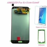 AMOLED LCD Screen For Samsung Galaxy E5 E500 E500F E500H E500M Touch Screen Digitizer LCD Display For Samsung E5 E500 E500F