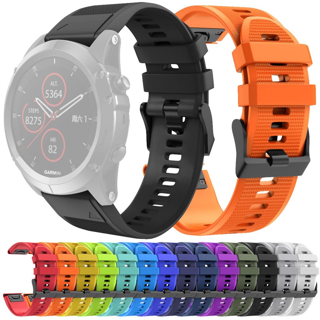 Fitness Bracelet Smart-Watch Easy-Fit Quick-Release-Replacement Garmin Fenix Silicone