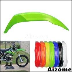 Universal bicicleta da sujeira fora da estrada frente fender motocross lama verde guarda plástico para kawasaki klr klx kx 110 140 250 450 650