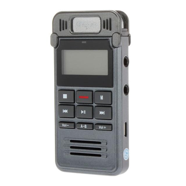 New Voice Recorder Slim Rechargeable 8GB 650HR Digital Audio Voice Recorder Dictaphone MP3 Player HQ Recorder gravador de voz
