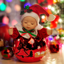 Creative Gifts Christmas Baby Mini Music Box Bobblehead Dolls Musical Boxes for Princess Love Girl, Children Christmas Gift
