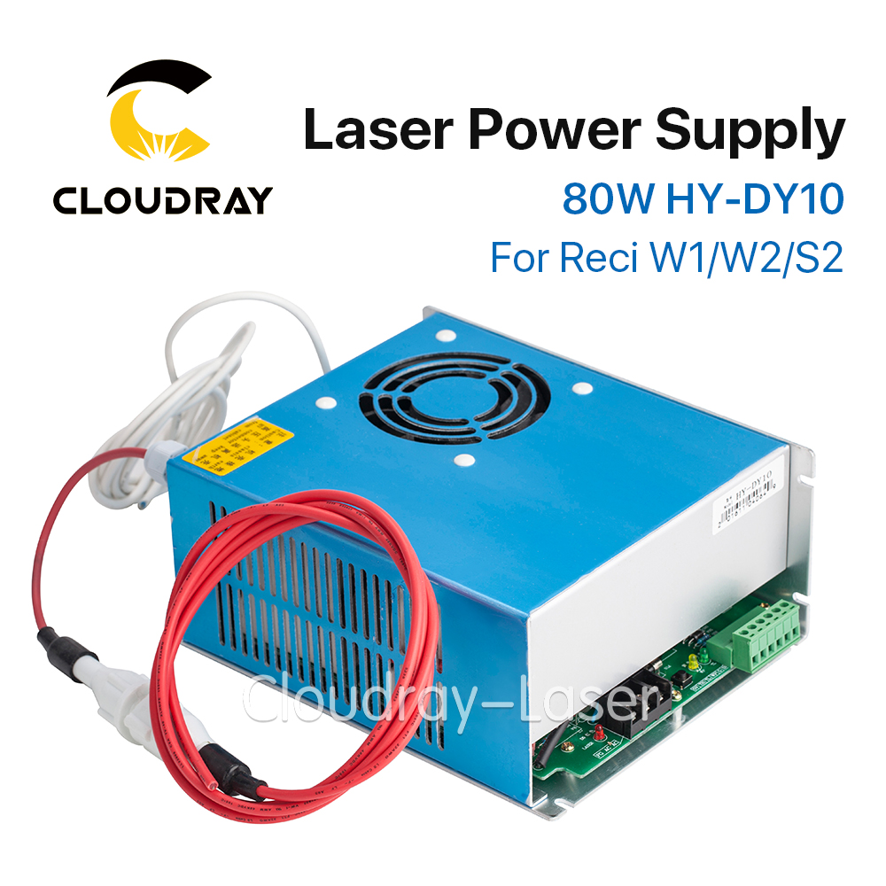 Cloudray DY10 Co2 Laser Power Supply For RECI W1/Z1/S1 Co2 Laser Tube Engraving / Cutting Machine laser power box 80 co2 laser power box 80w gernally laser power box 80w use for co2 laser tube 80w