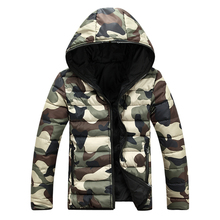 2017 Men Winter Camouflage Padded Jackets Coats Veste Hmme Parkas Jaqueta Maculina Men's Casual Fashion Slim Fit Wadded Jackets