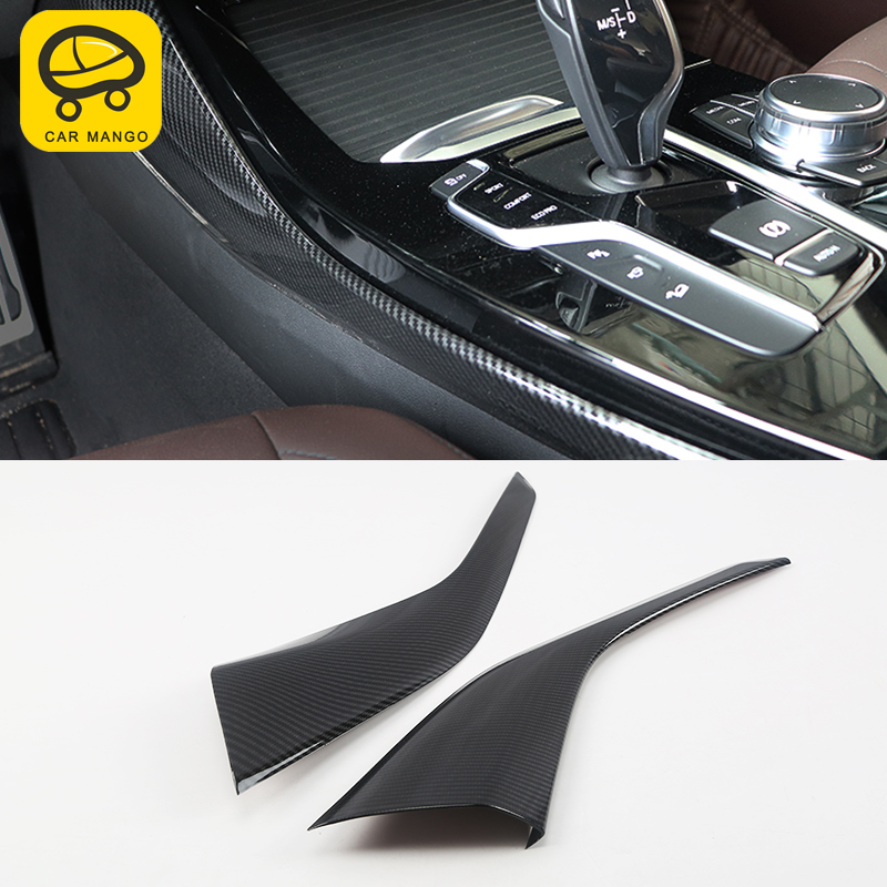 CARMANGO car water cup holder Both sides cover trim strips auto accessories gear box decoration for