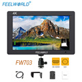Feelworld FW703 3G SDI 4K HDMI DSLR Monitor 7 Inch LCD IPS Full HD 1920x1200 Portable On Camera Field Monitor for Cameras Rig