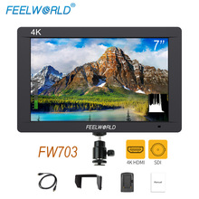 Feelworld FW703 3g SDI 4 К HDMI DSLR монитор 7 дюймов ЖК-дисплей ips Full HD 1920×1200 Портативный на Камера поле монитор для Камера s Rig