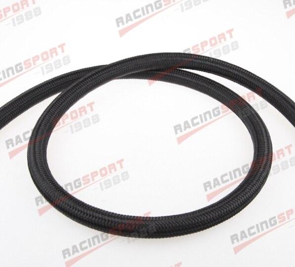 Cubierta de Nylon trenzada 1500 PSI-4AN AN4 AN-4 tubo flexible de Gas y combustible negro