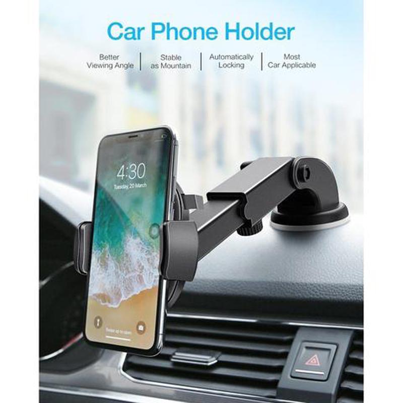 Luxury Car Phone Holder For IPhone X XS 8 7 Plus Windshield Car Mount Phone Stand Car Holder For Samsung S9Telefon Tutucu