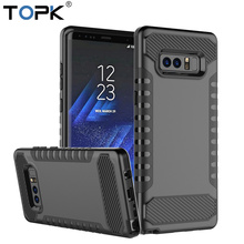 TOPK Luxury TPU+PC 2-IN-1 Hybrid Dual Layer Armor Full Body Protective Shockproof Back Cover Case for Samsung Galaxy Note 8