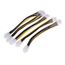 5 pièces ATX 4 broches mâle à 8 broches femelle EPS câble dalimentation adaptateur CPU connecteur dalimentation pour ordinateur de bureau 4pin 8pin cpu