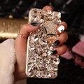 Роскошные 3D Bling Кристалла Алмаза Телефон Case Для Iphone 7 6 6 S I6 Плюс 5S 5C 5 Se 4 Г 4C Touch 4 Toucn 5 Fox Pink Lady Coque крышка