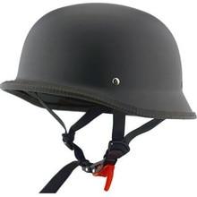 Лидер продаж, мотоциклетный rcycle шлем, винтажный шлем с открытым лицом, ретро 1/2, Половина шлема, casco, мотошлем, ciclismo, черный глянец