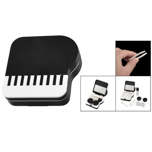 Eyewear Accessories Sincere Saf-new Mirror Contact Lens Lenses Box Case Holder Container Companion Piano Comfortable Feel