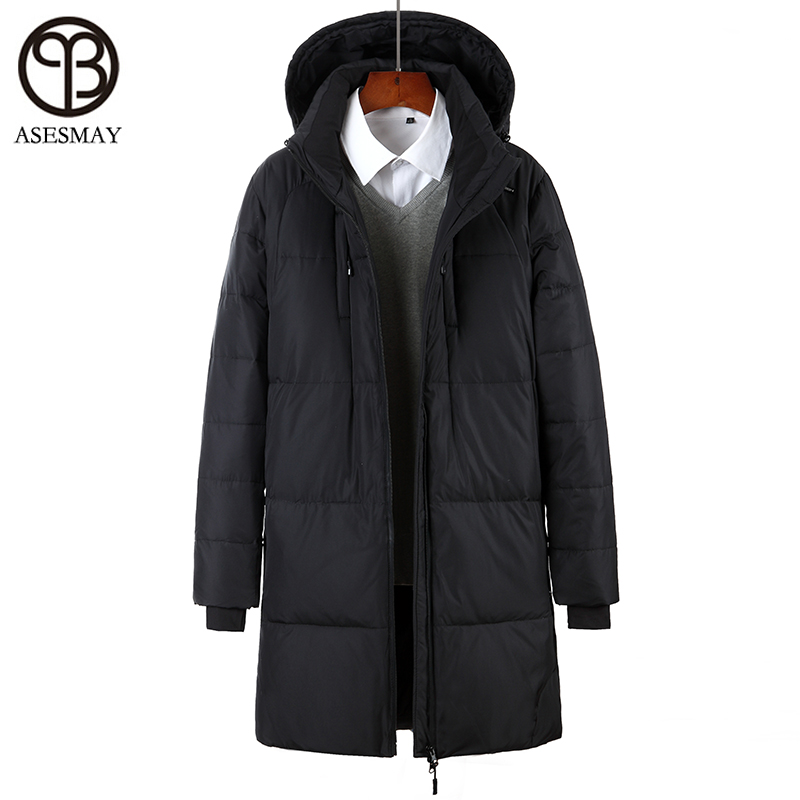 Asesmay 2017 New Arrival Brand Clothing Men Winter Jacket White Duck Down High Quality Mens Winter Parka Thick Warm Hooded Coat