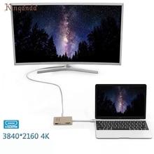 Ecosin2 Multifunction 6-Ports Usb 3.1 typeC HUB SD Card Reader U-disk 4K HDTV 0.5ft USB Data Cable 17mar16