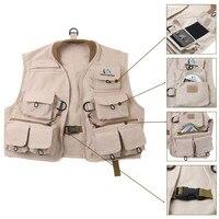 Maximumcatch Children Fly Vest Outdoor Fly Fishing Youth Vest Pack 100 Cotton Khaki Jacket