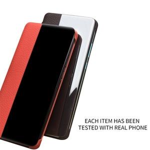 Image 2 - QIALINO אופנה אמיתי עור Flip Case עבור Huawei P30 פרו 6.47 אינץ בעבודת יד טלפון כיסוי עם חכם חלון עבור Huawei p30
