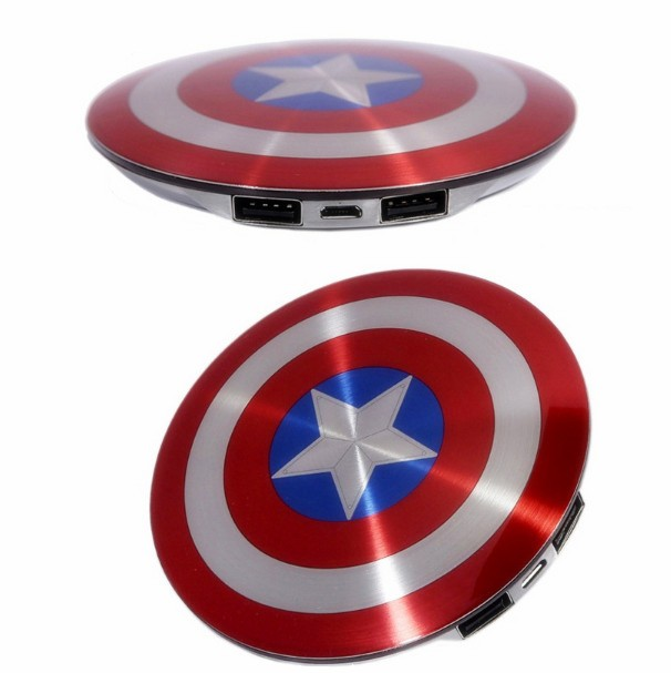 2016-Avengers-Captain-America-Shield-Power-Bank-Charger-USB-6800mAh-for-all-mobile-phone-with-Package