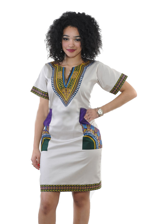 Aliexpress.com : Buy 2016 African Clothing Traditional Dress For Women  Africa Print Dress Women Deep V Neck Knee Length Dashiki Plus Size Dresses  from ...