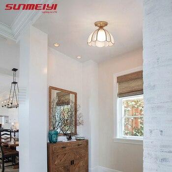 Modern LED Ceiling Lights With Glass Lampshade Plafonnier Led Living Room Bedroom Design Vintage Ceiling Lights Fixture