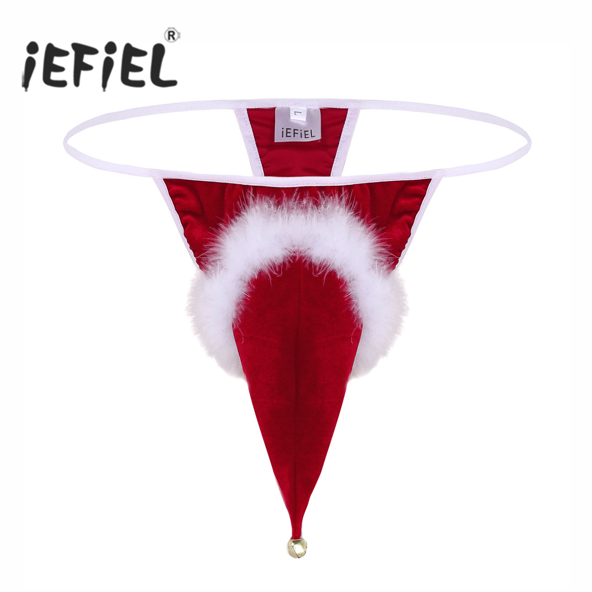 Iefiel Red Christmas Sexy Underwear For Mens Lingerie -8761