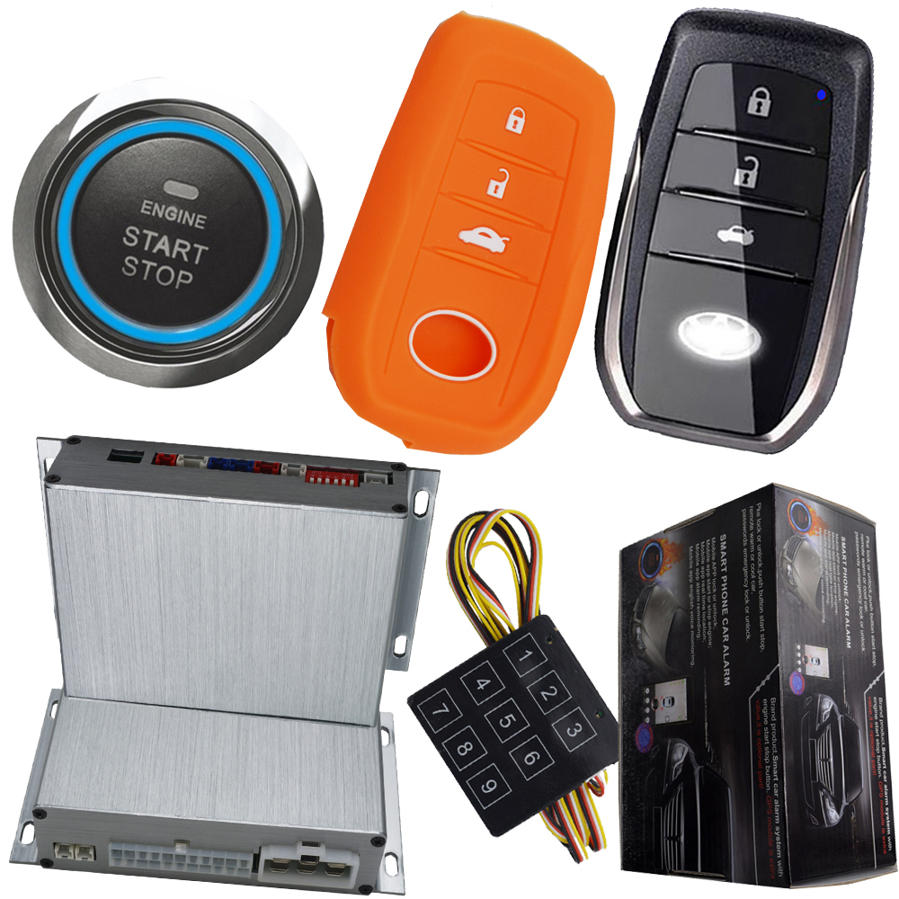 car button start stop engine auto car alarm security rolling code protection passive keyless entry remote start stop engine car auto smart car alarm hopping code car security system auto lock or unlock passive keyless entry push button start stop car