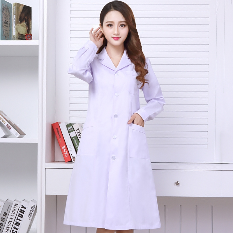 men and women White Medical Coat Nurse Services Uniform Medical Scrub Clothes White Lab Coat Hospital Doctor Clothes
