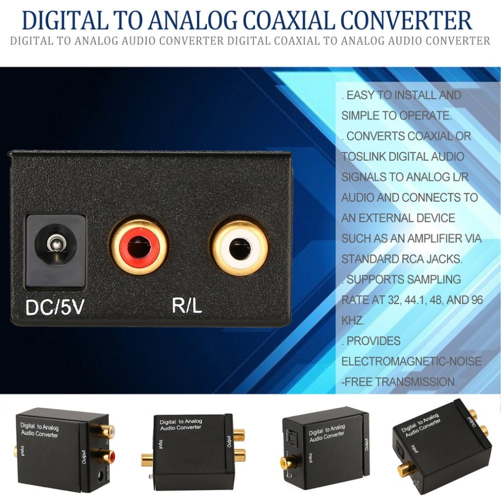 Computer-peripheriegeräte Initiative Digital Zu Analog Audio Konverter Digital Koaxial Zu Analog R/l Audio Converter Adapter Digital Faser Zu Simulation