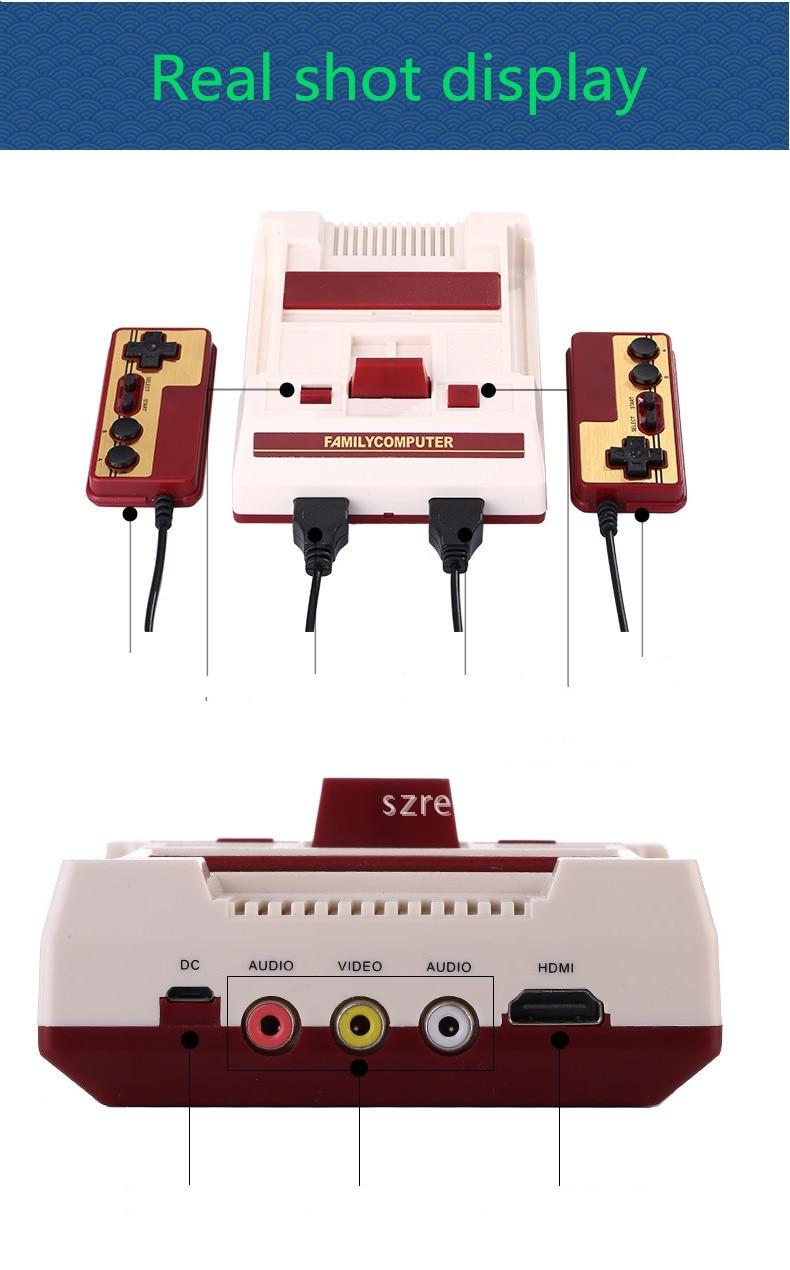 RS 34 NES mini red and white machine HDMI HD home game console classic FC TV