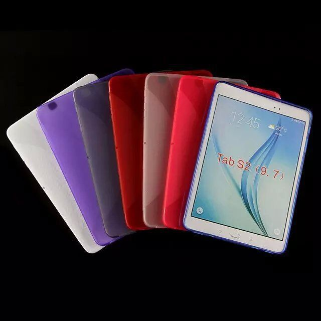 Fashion Anti-Skid X Line soft Silicone TPU Gel Case Back Cover Skin Shell for Samsung Galaxy Tab S2 9.7 T815 T810