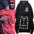 Yezzy 2016 зиму прилив прилив бренд товар оригинальный хип-хоп хип-хоп моды прилив глава Балахон Кофты мужская Одежда пальто