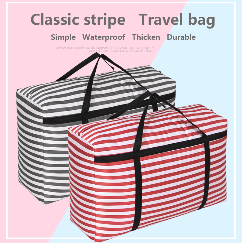 Extra Thick Canvas Moving Packing Bag Extra Large Thick Waterproof Duffel Bag Canvas Travel Bag Woven Bag Oversized Package
