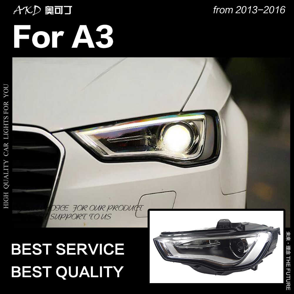 AKD Car Styling for A3 Headlights 2013-2016 Upgrade S3 All LED Headlight DRL Hid Head Lamp Angel Eye Bi Xenon Beam Accessories