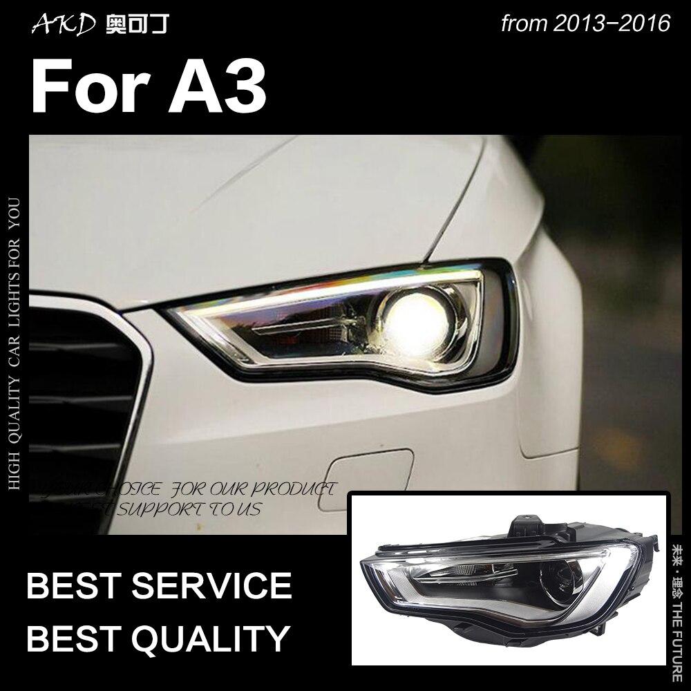 AKD voiture style pour A3 phares 2013-2016 mise à niveau S3 tous les phare LED DRL Hid phare Angel Eye Bi xénon faisceau accessoires
