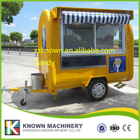 CE Approved Street Mobile Food Cart/Beverage Food Cart/Fruit Vending Cart long 2.2m*1.65M*2.2M