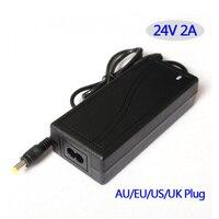 Comutação da fonte de alimentação AC/DC adaptador de 24 V 2A 48 W Tabela tipo UE/EUA/AU/UK plug disponível, por favor nos avise quando a encomenda.