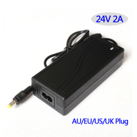 Zasilacz AC/DC adapter 24 V 2A 48 W Tabeli typu UE/USA/AU/UK wtyczka dostępne, daj nam znać, podczas składania zamówienia.