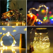 2M 20 LEDS Wine Bottle Lights diy LED Cork Shape Copper Wire Colorful Fairy String For Christmas Halloween Wedding party