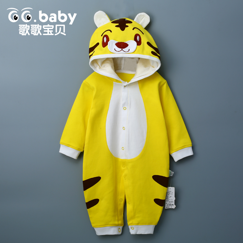 Cute Newborn Baby Rompers Clothes Cotton Ears Hooded Infant Baby Animal Costumes For Girls Babies Children Boy Jumpsuit Clothing