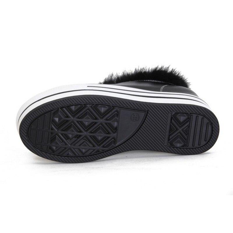 Creciente Cuero Cuñas Bombas Zapatos Marca Casual Deporte Las Genuino Lana Invierno Hop Plataforma Forro Black Mujeres De Diseñador Nueva Hip Zapatillas Y0qzwz6XP