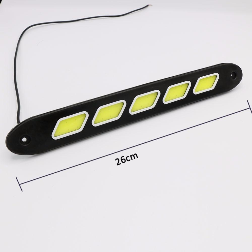 2PCS fleksibilno LED svjetlo za dnevnu vožnju COB DRL Super svijetlo - Svjetla automobila - Foto 3