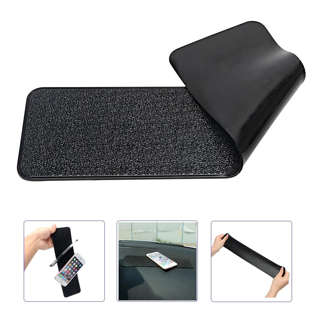 Grande largo auto Dashboard Sticky Pad antideslizante Mat Gel de Anti-Slip Mat para teléfono móvil, tableta GPS de coche-estilo de cuero de la PU