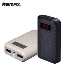REMAX Power Bank 10000mAh Universal Mobile Phones Portable Charger Powerbank Dual USB LED LCD 10000mAh External Battery Charger