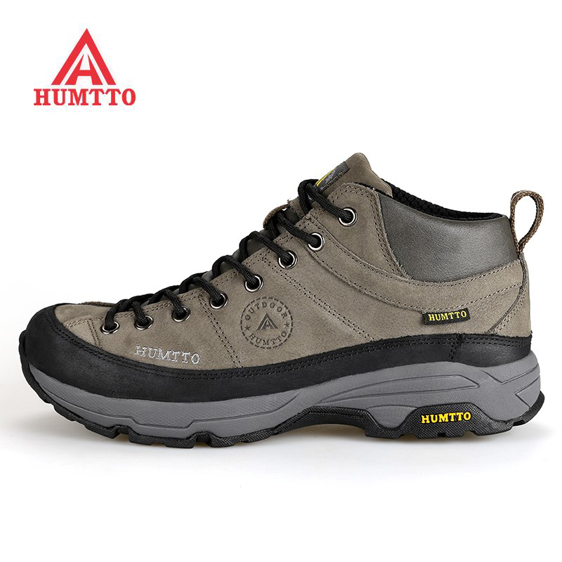 HUMTTO Men's Winter Leather Outdoor Hiking Trekking Boots Shoes Sneakers For Men Sport Climbing Mountain Boots Shoes Man kerzer outdoor shoes men autumn winter hiking boots slip on trekking shoes leather mountain climbing sneakers